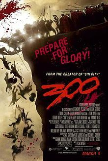 300 is a 2007 American action film based on the 1998 comic series of the same name by Frank Miller. It is a fictionalized retelling of the Battle of Thermopylae. The film was directed by Zack Snyder, while Miller served as executive producer and consultant. It was filmed mostly with a super-imposition chroma key technique, to help replicate the imagery of the original comic book.