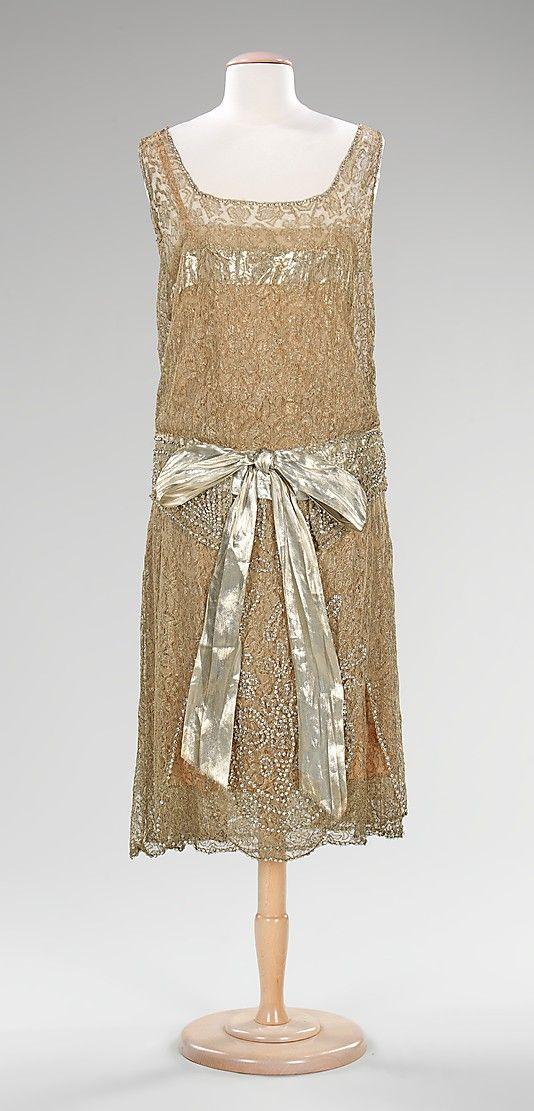 Evening Dress 1925, American, Made of silk