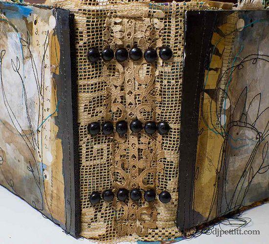 dj pettitt ~ she creates gorgeous artful books, just look at this spine!
