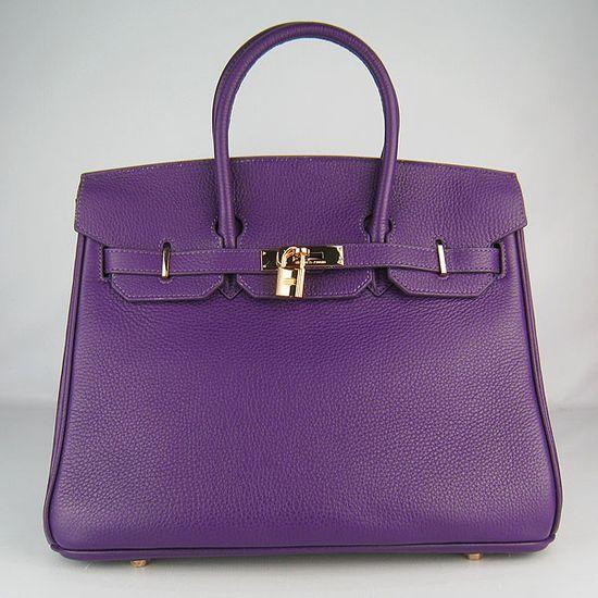 Hermes Birkin bag.  In purple.