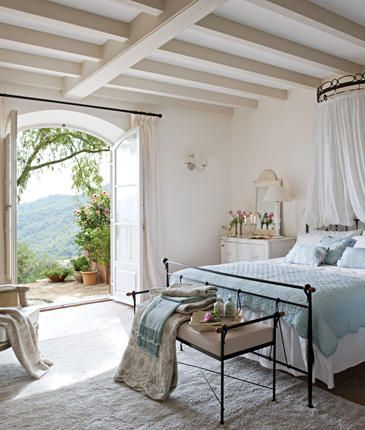 Light and breezy bedroom with lovely french doors