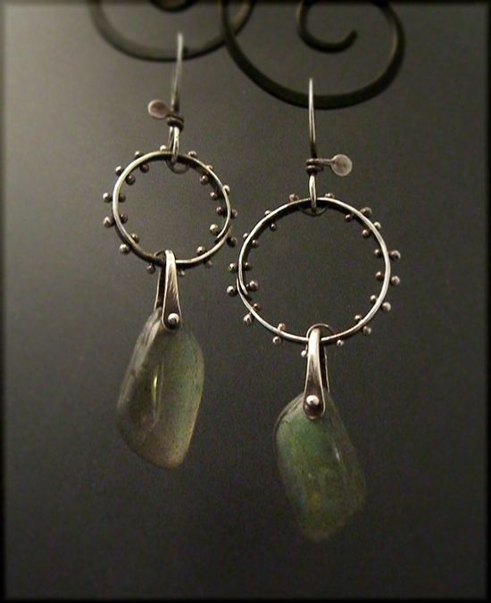 sterling silver and labradorite