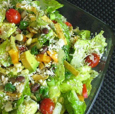 SOUTHWESTERN SALAD WITH CILANTRO LIME VINAIGRETTE