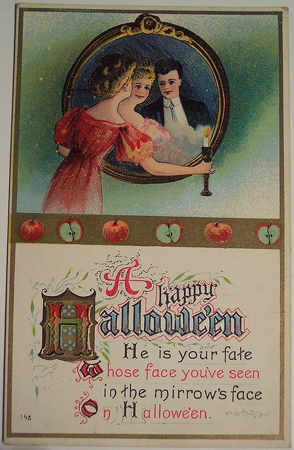 Vintage Halloween groom postcard