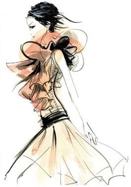 Fashion illustration by Grant Cowan    Image via Max Luchin...  www.fashion.net