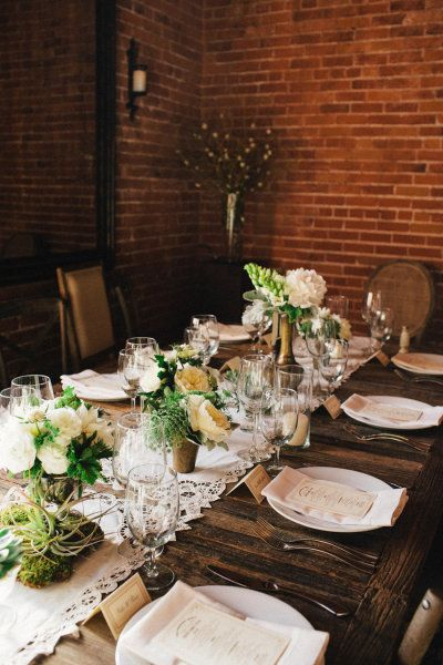 vintage infused tablescape