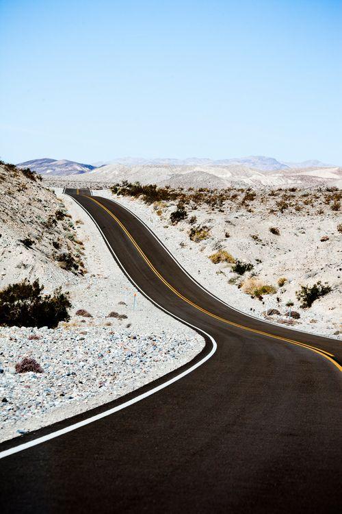the desert open road