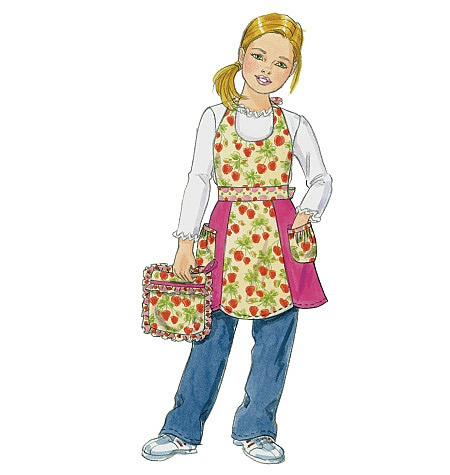 Quilt Block Apron Pattern Size Child Small With Quilt Block Bib