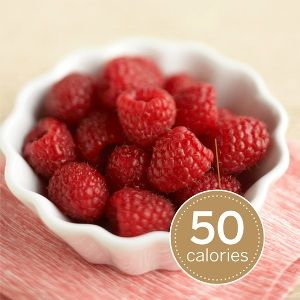 Raspberries are a great low calorie snack, at only 50 calories, they are very rich in antioxidants