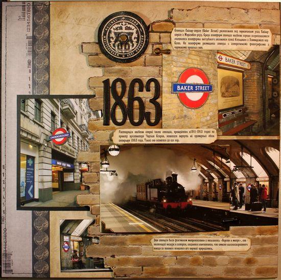 London Underground 1863 - Scrapbook.com