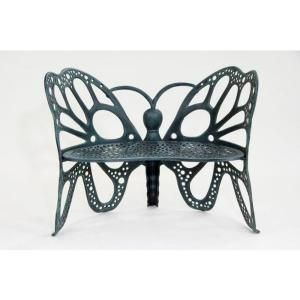 FlowerHouse Antique Butterfly Patio Bench from Home Depot