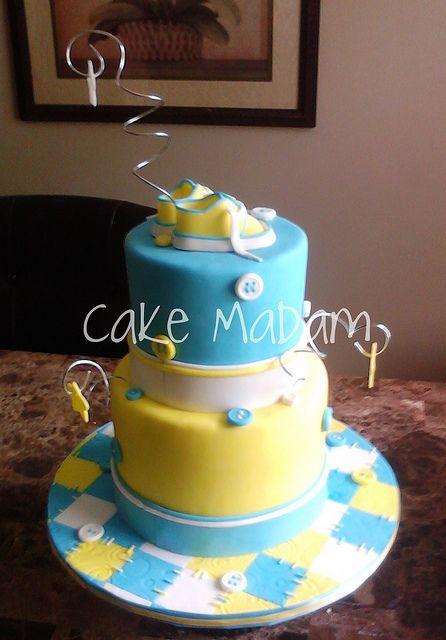 Button Baby Shower cake by Cake Madam, via Flickr
