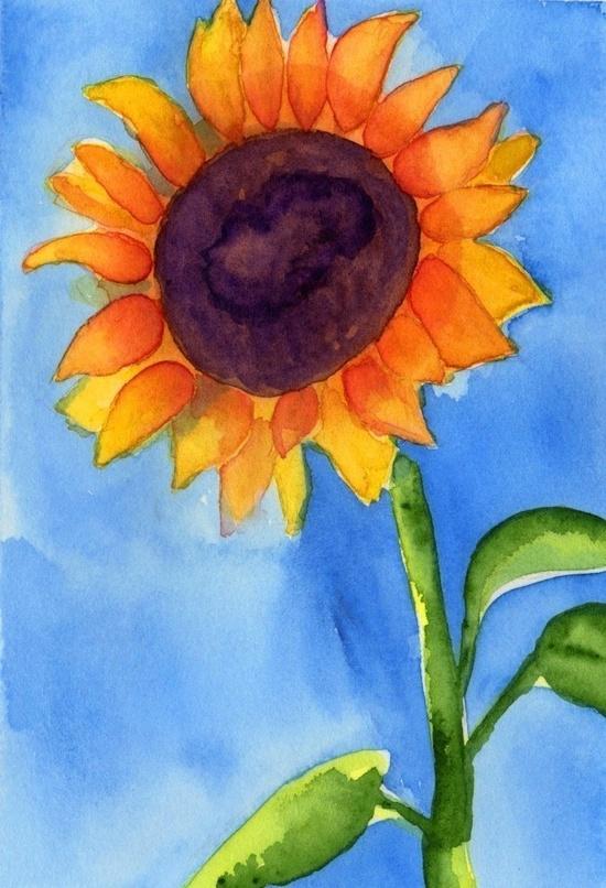 Watercolor Painting Watercolor Flowers by printmakerjenn on Etsy