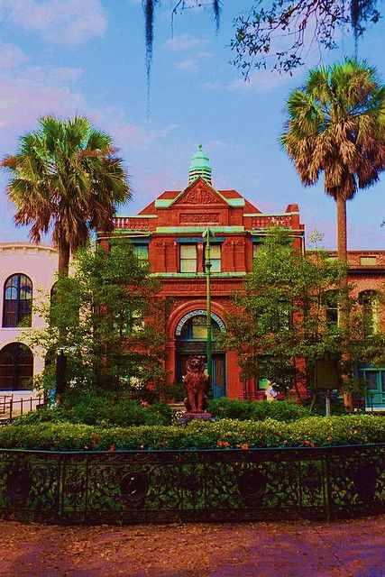 The Cotton Exchange building in Savannah, Georgia - Savannah is a great place to visit!  :)