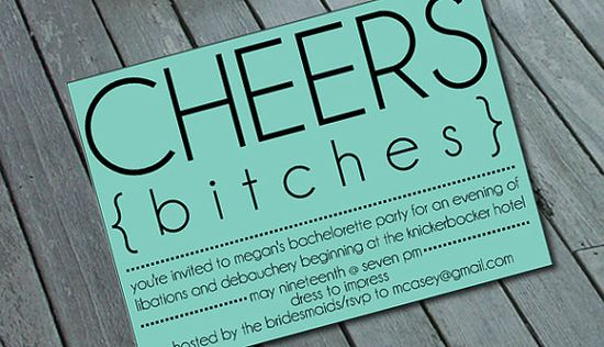 BACHELORETTE Party Invitation: