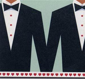 Gay Wedding Card #GayWedding #TipiWedding