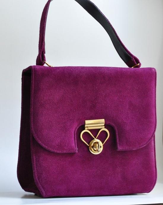 Vintage suede handbag