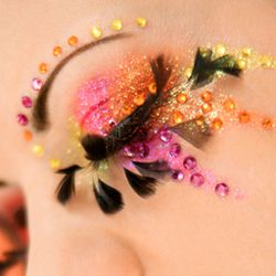 eye makeup/jewels