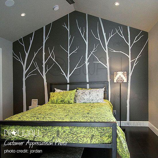 Beautiful bedroom tree wall