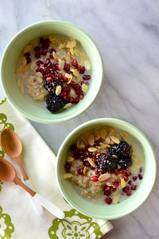 quinoa-berry breakfast bowl