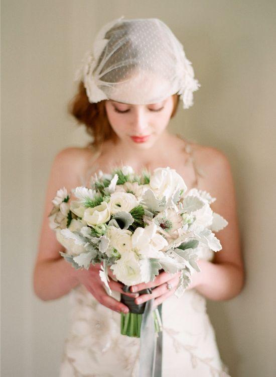 green grey white bouquet