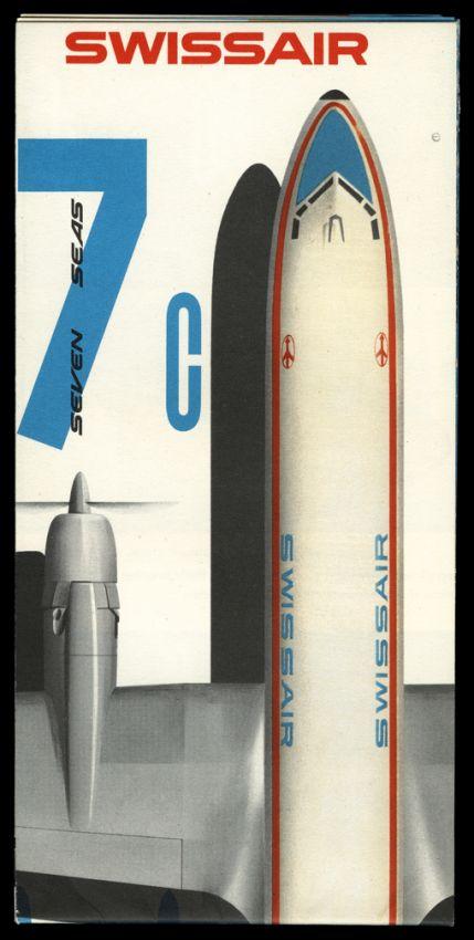 Beautiful #design ? 1956 #Swiss Air Poster