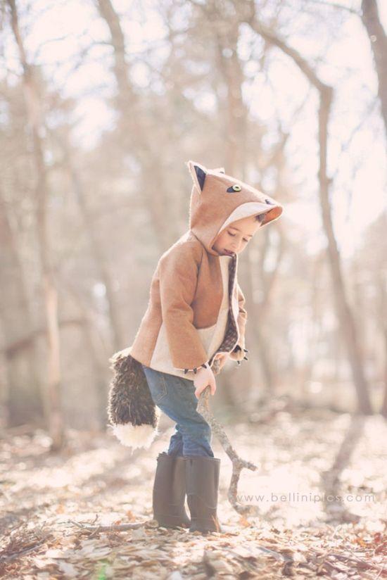 Kids Fantastic Little Fox Coat. $150.00, via Etsy.