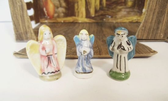 Vintage French Angels  3 pieces  CHRISTMAS  by UrbanRenewalDesigns, $9.00