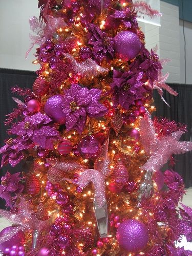 Christmas in pink and purple
