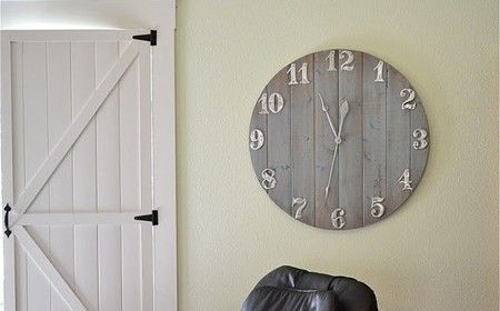 are here: Home / DIY Decor / Rustic Wall Clock {DIY Home #home decorating #home interior design 2012 #home design