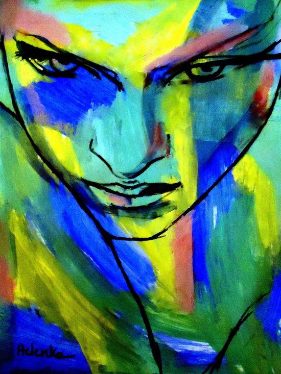 "Saatchi Online Artist: Helena Wierzbicki; Acrylic, 2012, Painting """"Numinous emotions"""