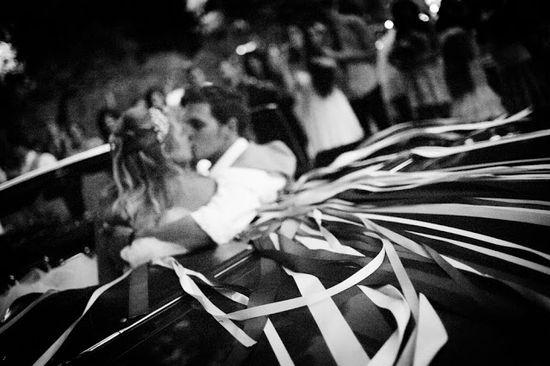 Getaway car Wedding Photography Image by Lindsey Freitas Bellalu Photography