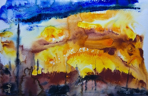 Abstract Watercolor Artwork