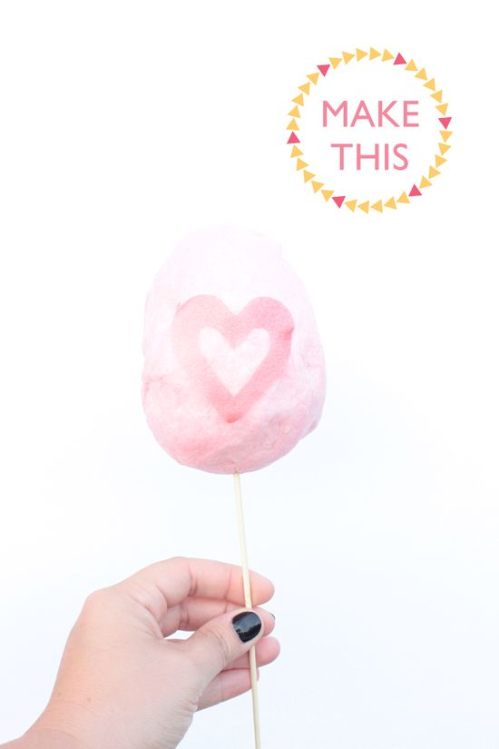 Typography Cotton Candy DIY, how to write a message or put a shape on your cotton candy