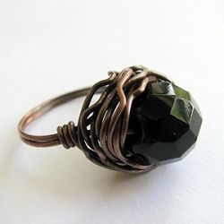 DIY wire wrapped ring.
