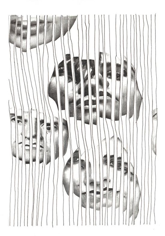 Cool distorted drawing idea