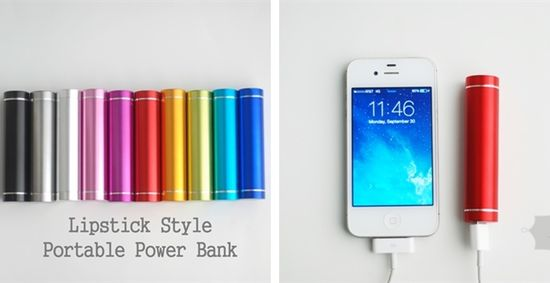 Portable Lipstick Style Smart Phone Charger