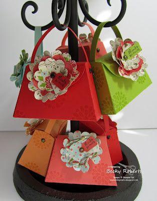 stampin' up petite purse die.  LOVE!