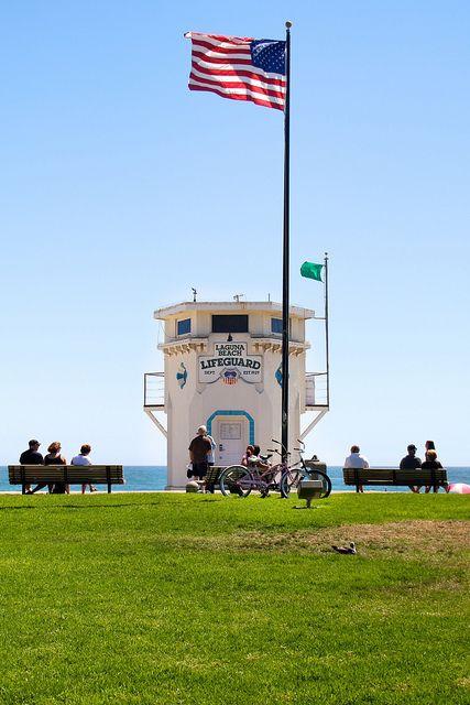 Laguna Beach, CA main beach lifeguard