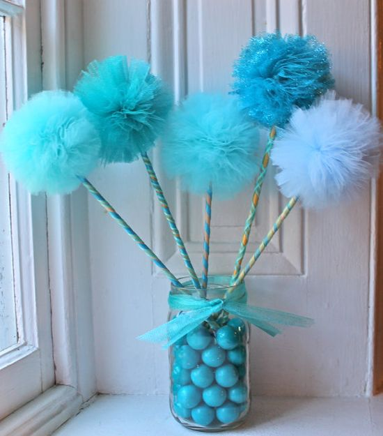 Mermaid or Under The Sea Party Wand Favors or by Pretti Mini Party Goods