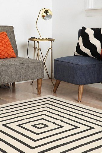 concentric squares rug
