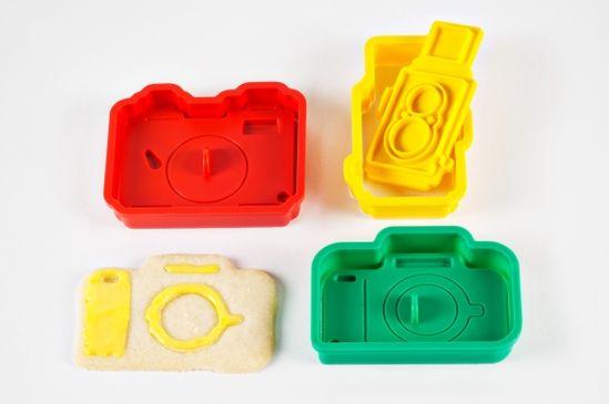 Camera Cookie Cutters by photojojo: $18 #Cookie_Cutter #Camera #photojojo