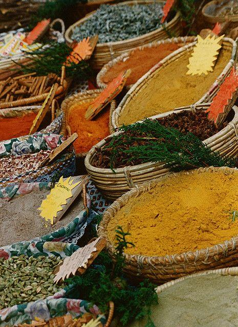 The market in Gordes, Luberon Provence