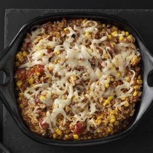 Southwestern Vegetables & Rice Quick Dinner Recipe from Taste of Home -- Short on time? Here's a spicy, satisfying supper that comes together in moments.