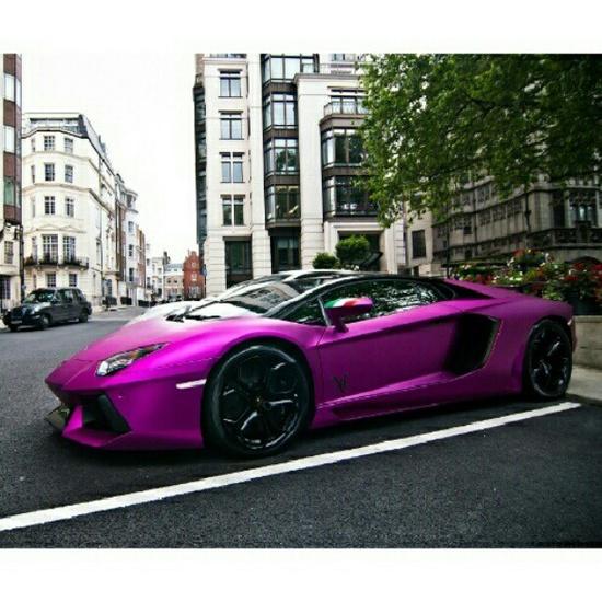 Slick Purple Lamborghini