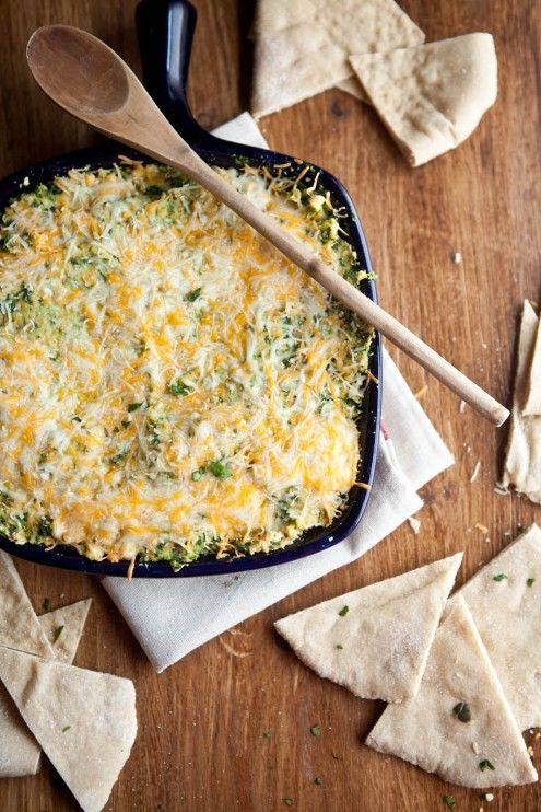 Baked Hummus and Spinach Dip- a new way to get your hummus fix.