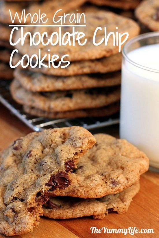 Whole Grain Chocolate Chip Cookies