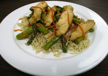 Chicken Asparagus Stir Fry: Aurora Health Care
