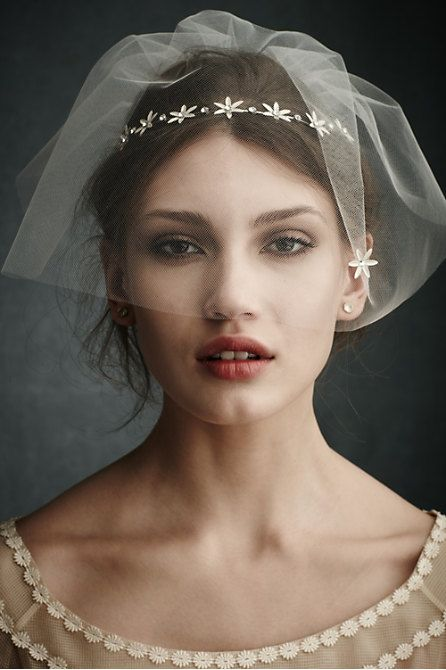 head band and blusher, romantic.