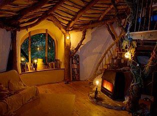 Cozy cob home interior